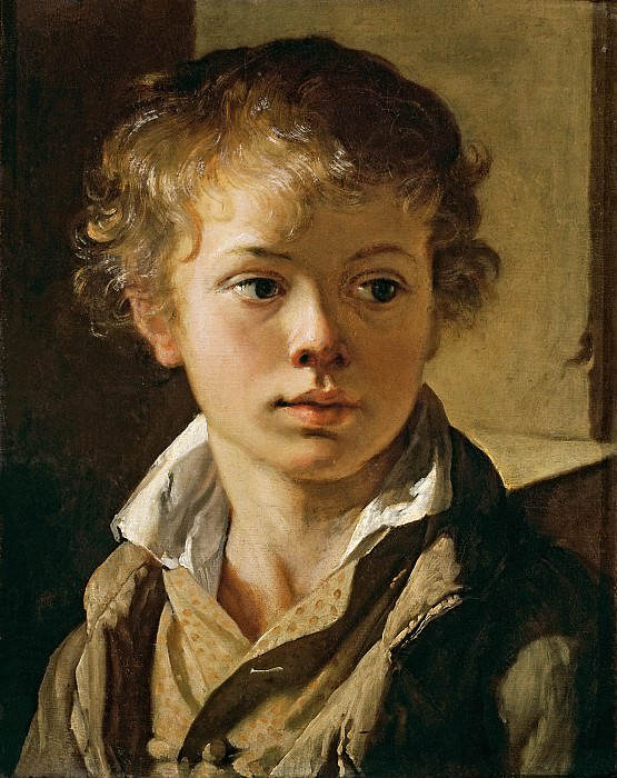 Portrait of Arseny Vasilievich Tropinin, son of the artist. Vasily Tropinin