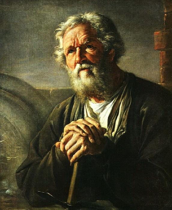 Портрет С. К.Суханова. 1823. Vasily Tropinin