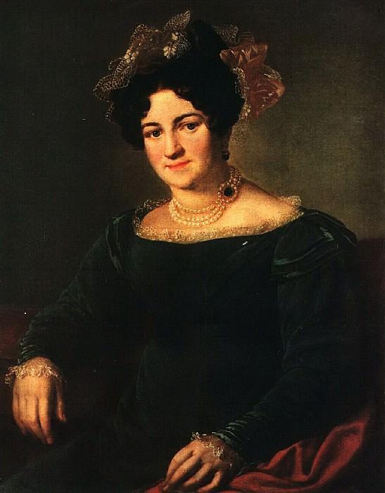 Портрет П. И. Сапожниковой. 1826. Василий Андреевич Тропинин