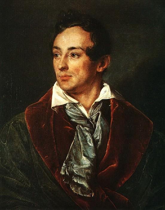 Портрет молодого человека в зеленом халате. 1839. Василий Андреевич Тропинин