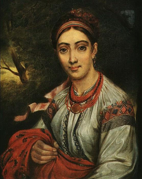 Девушка-украинка в пейзаже. 1820-е. Василий Андреевич Тропинин