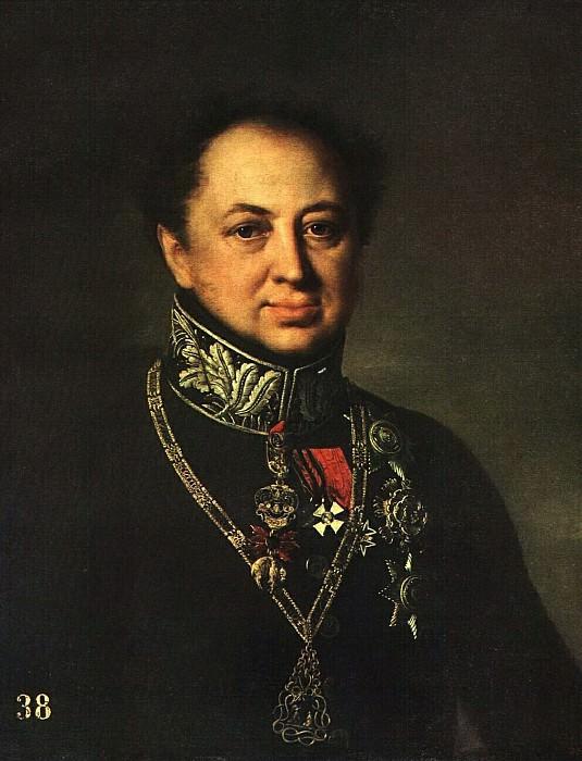 Портрет Д. П. Татищева. 1838. Vasily Tropinin