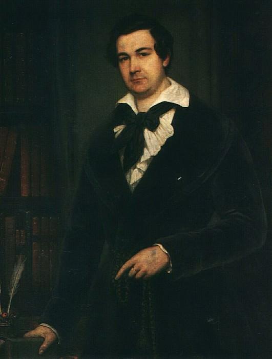 Портрет В. А. Каратыгина. 1842. Vasily Tropinin