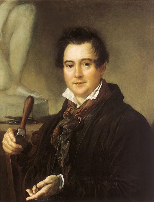 Портрет скульптора И.П.Витали. 1839. Холст, масло. 81х65 см. Василий Андреевич Тропинин