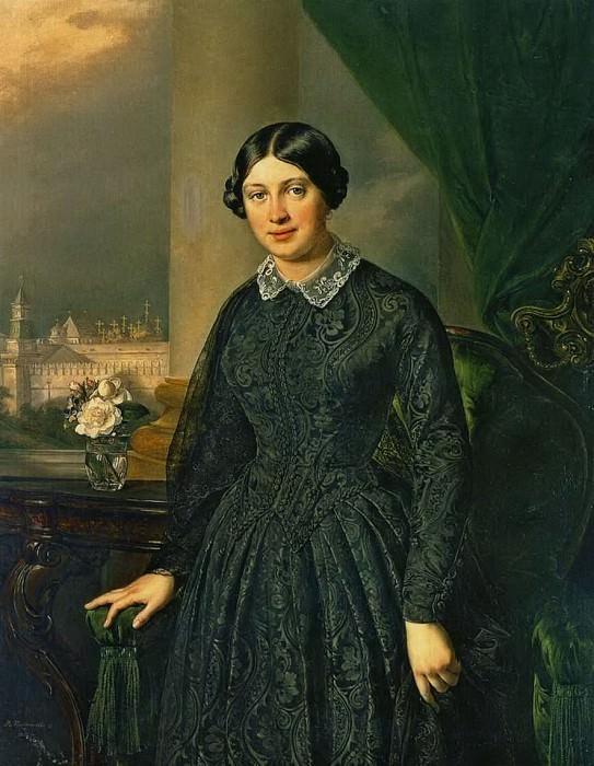 Портрет Левицкой-Волконской. 1852. Василий Андреевич Тропинин