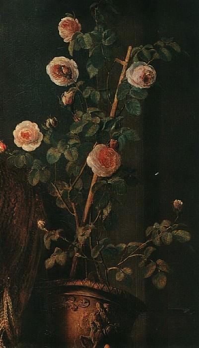 Девушка с горшком роз. Фрагмент. Vasily Tropinin