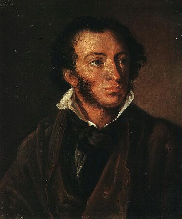Портрет А. С. Пушкина. Этюд. 1827. Vasily Tropinin