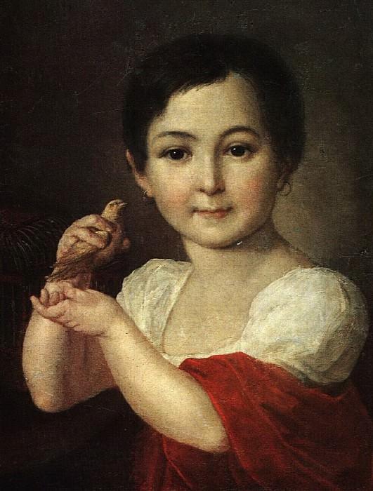 Девочка с канарейкой. 1810-е. Vasily Tropinin