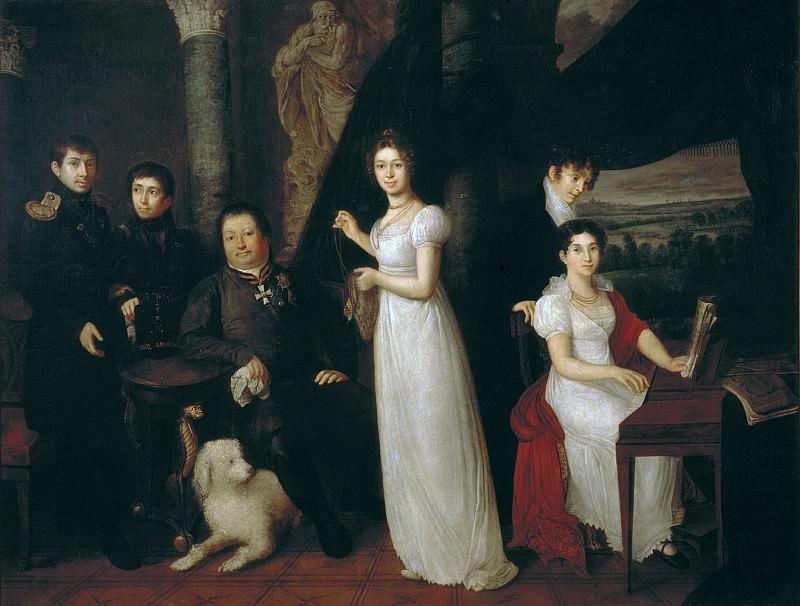 Morkov family portrait. Vasily Tropinin