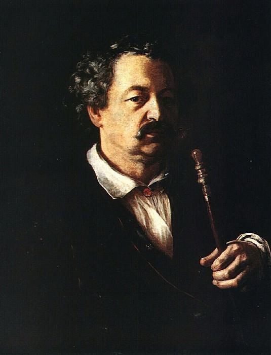 Портрет неизвестного с трубкой. 1840—1850-е. Василий Андреевич Тропинин