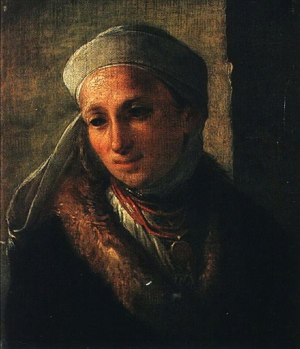 Украинка в намитке. 1820. Vasily Tropinin