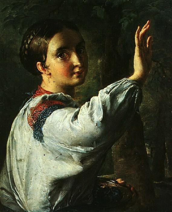 Девушка-украинка, собирающая сливы. 1820-е. Vasily Tropinin
