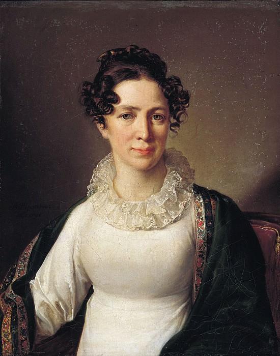 Портрет Анны Андреевны Тропининой, сестры художника 1827. Холст, масло. 72х57 см. Vasily Tropinin