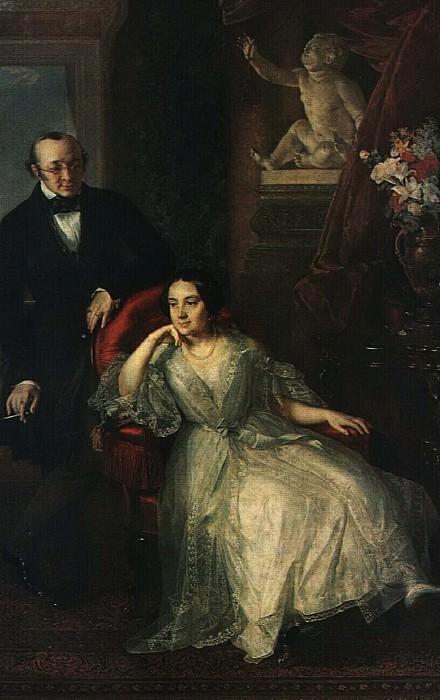 Портрет супругов Н. И. и Н. М. Бер. 1850. Василий Андреевич Тропинин