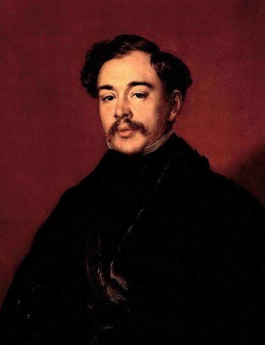Портрет неизвестного в черном сюртуке (Веревкина). 1850. Василий Андреевич Тропинин