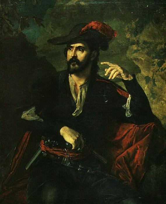 Разбойник (Портрет кн. Оболенского). 1840-е. Vasily Tropinin