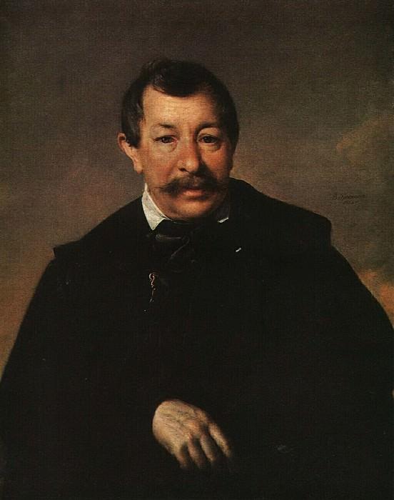 Портрет неизвестного (из семьи Мосоловых). 1856. Vasily Tropinin