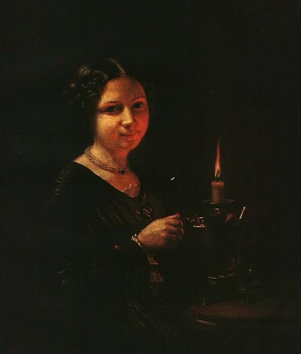 Девушка со свечой. 1830-е. Vasily Tropinin
