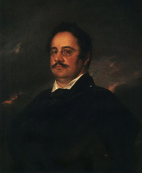 Портрет Н. Н. Раевского (младшего). 1842. Vasily Tropinin