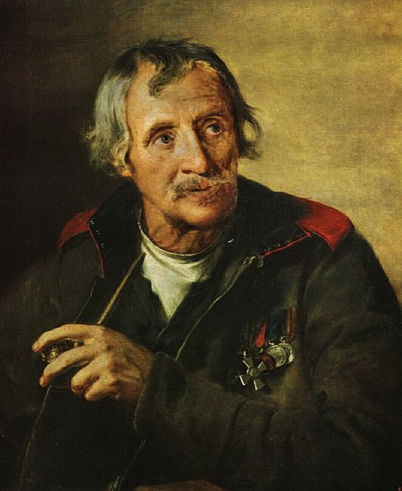 Старый солдат. 1843. Vasily Tropinin