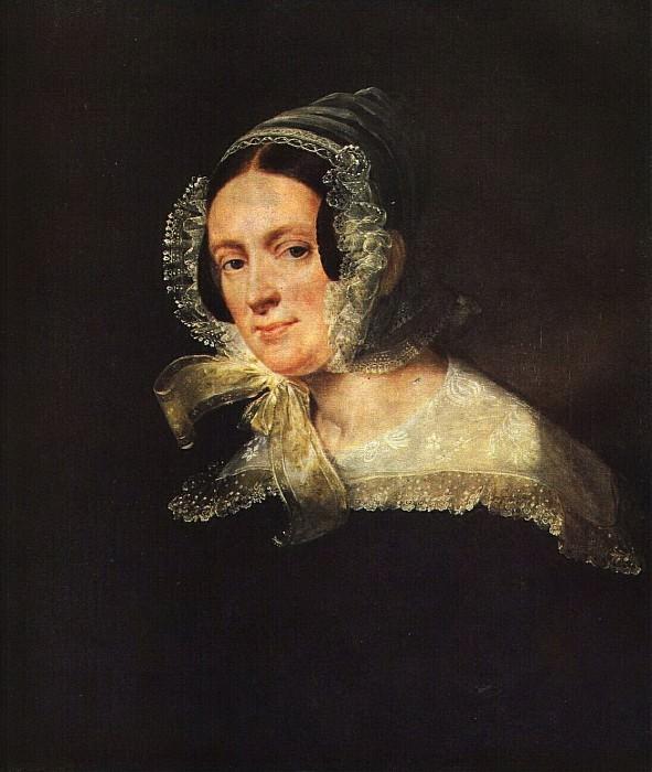 Портрет Е. В. Киреевской. 1839. Vasily Tropinin