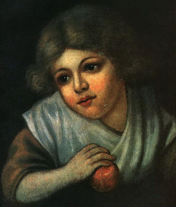 Девочка с яблоком. 1800-е. Василий Андреевич Тропинин