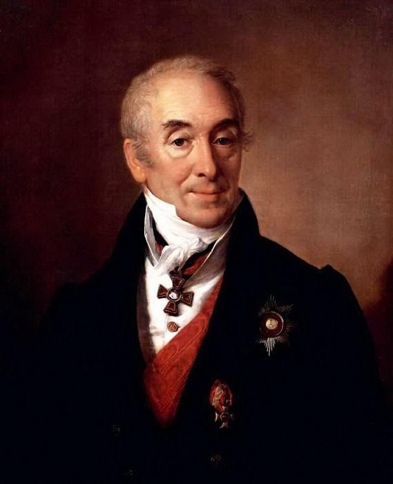 Портрет С.С.Кушникова. 1828. Василий Андреевич Тропинин