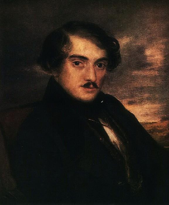 Портрет А.Ф.Заикина. Этюд. Около 1837. Vasily Tropinin