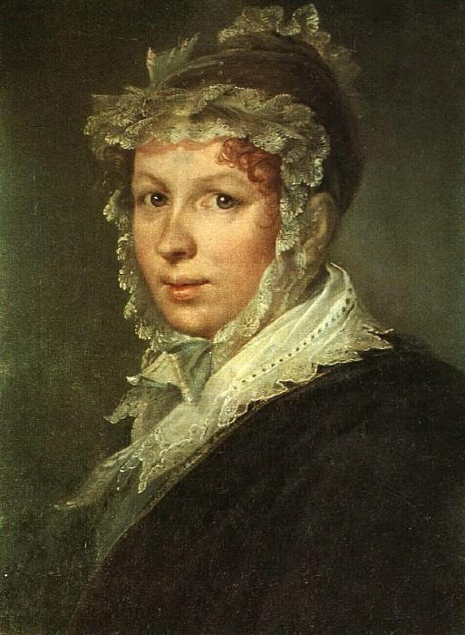 Портрет А. И. Тропининой, жены художника. Около 1809. Vasily Tropinin