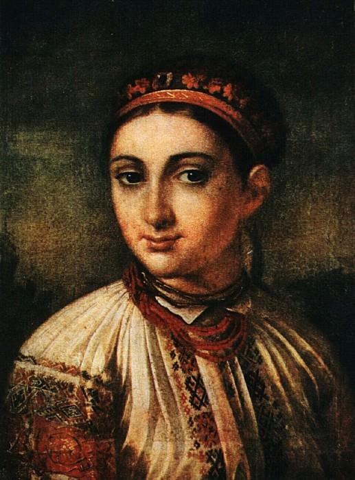 Украинская девушка с Подолья. 1800-е. Vasily Tropinin