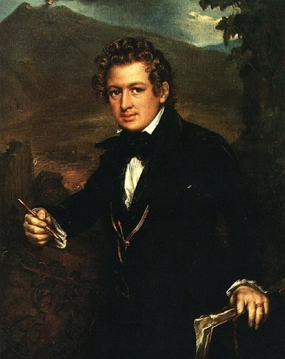 Portrait of K.P.Bryullov. Vasily Tropinin