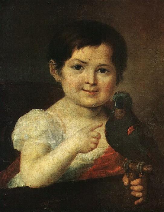 Девочка с попугаем. 1810-е. Vasily Tropinin