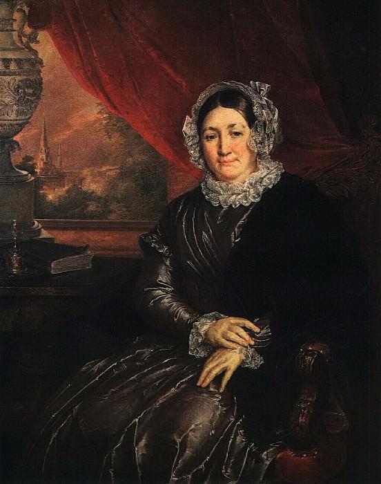 Портрет Е. П. Протасьевой. 1840-е. Василий Андреевич Тропинин