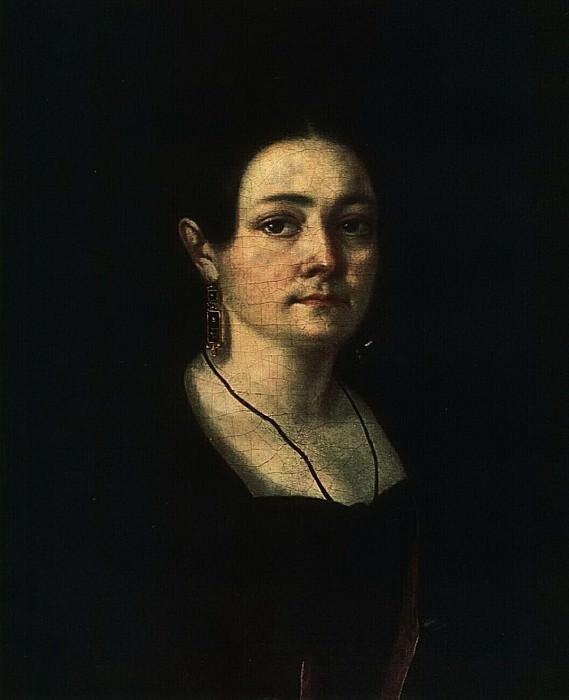 Портрет неизвестной в плаще. 1840-е. Василий Андреевич Тропинин