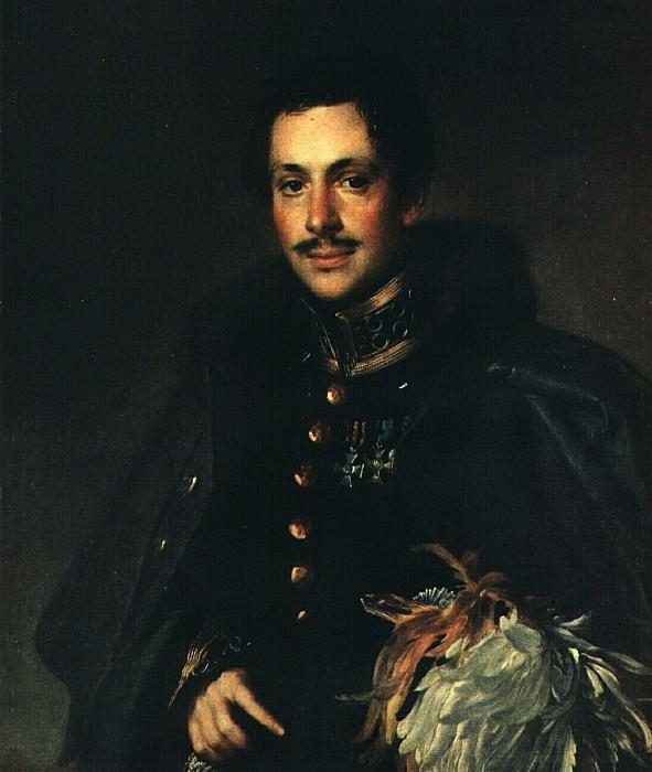 Портрет гусара Мосолова. 1830-е. Василий Андреевич Тропинин