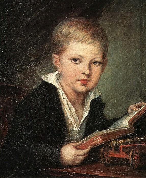 Мальчик с пушкой. Портрет кн. М. А. Оболенского. Около 1812. Vasily Tropinin