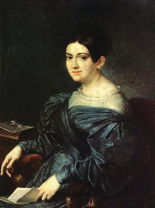 Портрет писательницы Л. Н. Кожиной. 1836. Василий Андреевич Тропинин