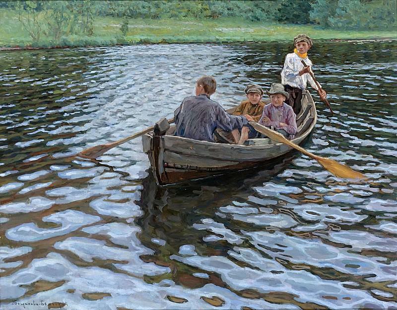 On the lake. Nikolai Petrovich Bogdanov-Belsky