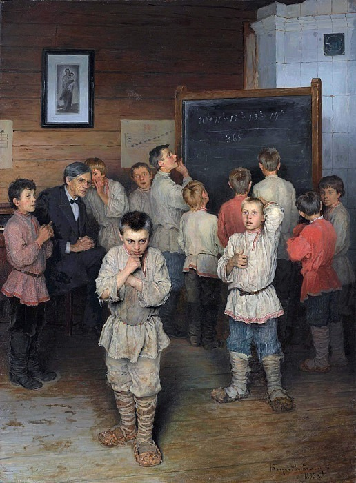Verbal counting. In the folk school of S.A. Rachinsky. Nikolai Petrovich Bogdanov-Belsky