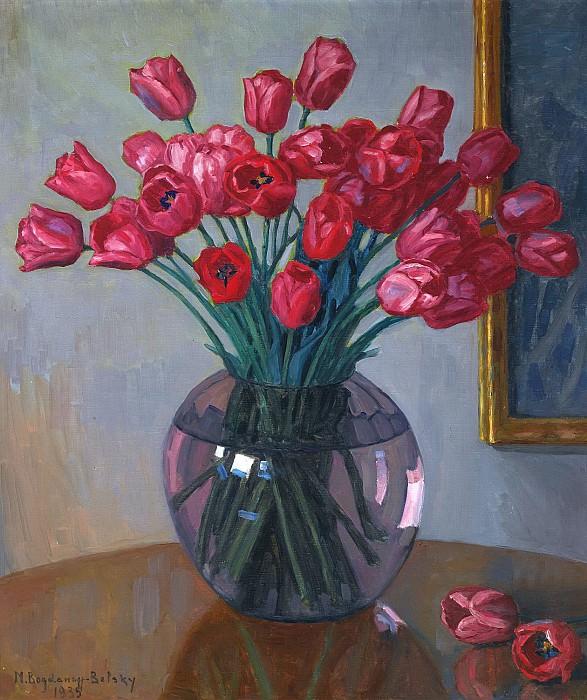 Still Life With Tulips. Nikolai Petrovich Bogdanov-Belsky