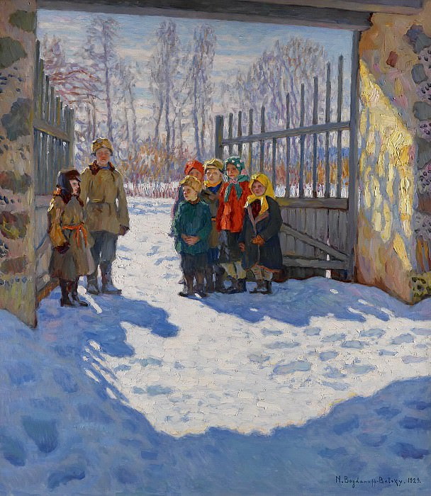 March Sunshine. Nikolai Petrovich Bogdanov-Belsky