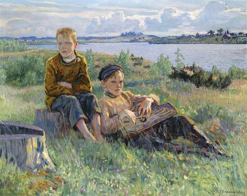 Two Boys. Nikolai Petrovich Bogdanov-Belsky