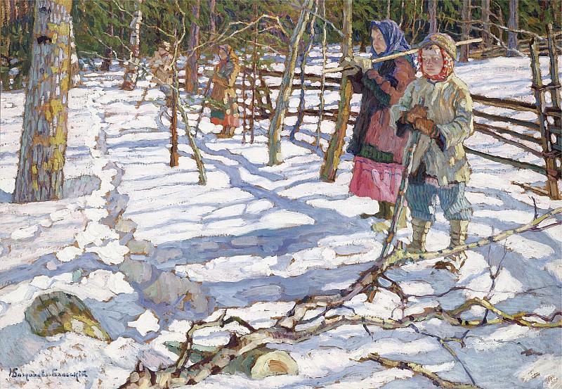 Юные охотники на медведя. Николай Петрович Богданов-Бельский