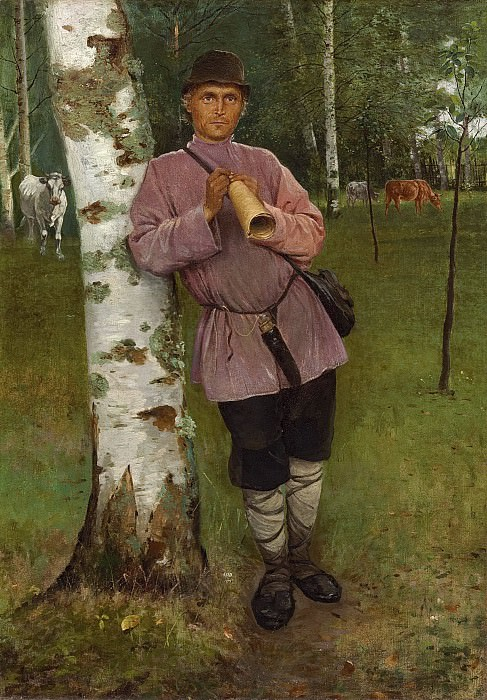 Watching over the herd. Nikolai Petrovich Bogdanov-Belsky