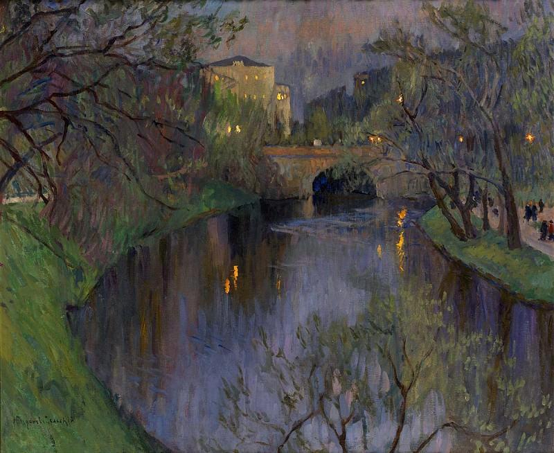 Twilight in Riga. Nikolai Petrovich Bogdanov-Belsky