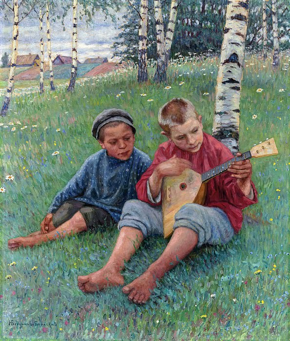 The first lesson. Nikolai Petrovich Bogdanov-Belsky