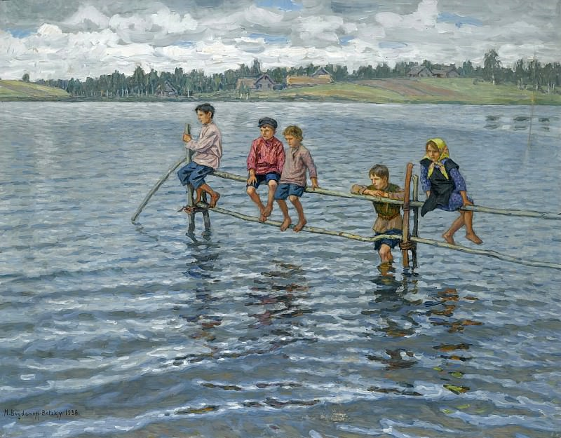 Дети на озере. Николай Петрович Богданов-Бельский