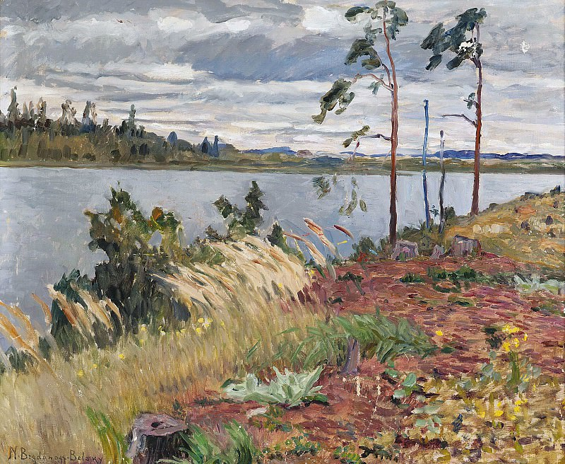 The river Daugava. Nikolai Petrovich Bogdanov-Belsky