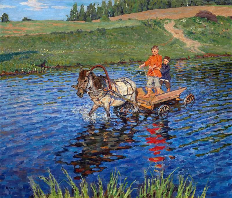 Crossing the River. Nikolai Petrovich Bogdanov-Belsky