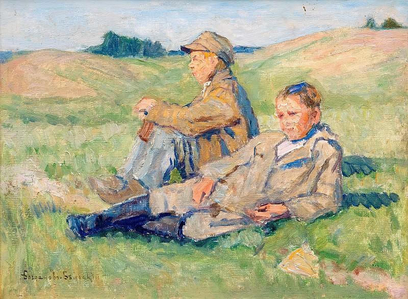Resting boys. Nikolai Petrovich Bogdanov-Belsky